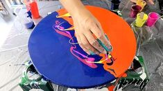 Acrylic Pouring Art, Acrylic Art, Acrylic Painting Canvas, Painting Abstract, Acrylic Colors, Art Painting Tools, Diy Painting, Painting Flowers, Pour Painting