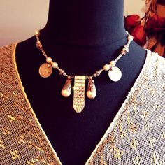 Fancy time tribal fusion necklace:)