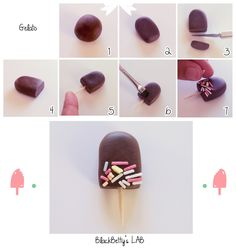 Fimo Polymer Clay Ice Cream Tutorial