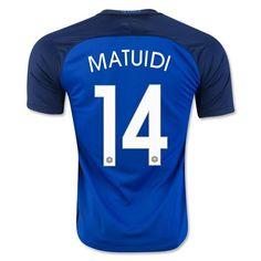 France Euro 2016 Home Authentic Men Soccer Jersey MATUIDI #14
