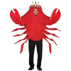 Our Adult King Crab Costume is the ideal Funny Animal Costume from the Little Mermaid. For a fun family costume idea consider one of our Crab Costumes for children. Fabric over foam crab costume Attached kings crown Size: Adult Standard SKU: Food Halloween Costumes, Wholesale Halloween Costumes, Funny Costumes, Family Costumes, Adult Halloween, Adult Costumes, Costume Ideas, Halloween Ideas, Halloween Party