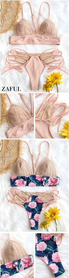 Up to 80% OFF! Crochet Insert Swim Bra With Lace Up Bottoms. #Zaful #Swimwear #Bikinis zaful,zaful outfits,zaful dresses,spring outfits,summer dresses,easter,super bowl,st patrick's day,cute,casual,fashion,style,bathing suit,swimsuits,one pieces,swimwear,bikini set,bikini,one piece swimwear,beach outfit,swimwear cover ups,high waisted swimsuit,tankini,high cut one piece swimsuit,high waisted swimsuit,swimwear modest,swimsuit modest,cover ups @zaful Extra 10% OFF Code:ZF2017