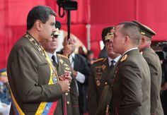 Maduro condecoró a oficiales de la GNB que fueron víctimas de acciones violentas