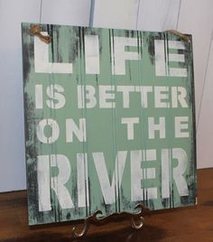 Life really IS better on the river. The Contoocook is Our river.in our backyard! North flowing river in New Hampshire