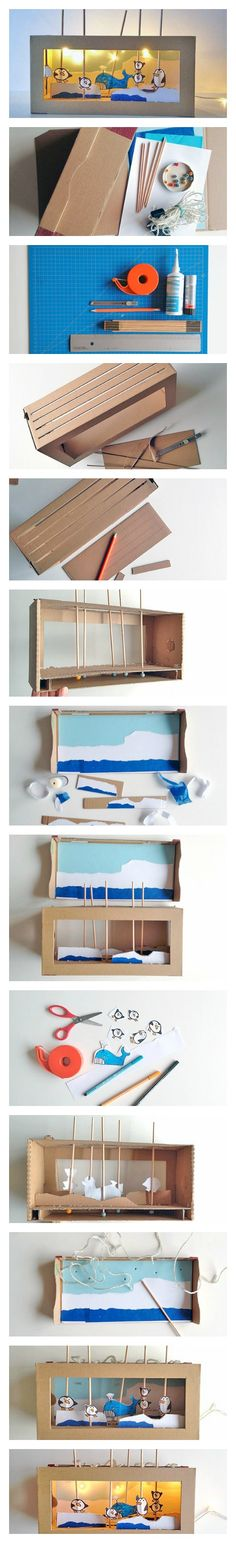 DIY A Light Up Shoebox Theater