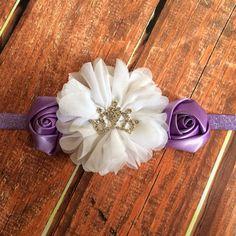 Softie the First Headband- Disney Inspired Headband, Disney Headband, Birthday Headband, Photo Prop, Purple Headband, Princess Headband  on Etsy, $12.50