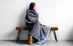 Traditional Nordic Wool Blanket (Navy) - Kaufmann Mercantile #fallfavoritesKM