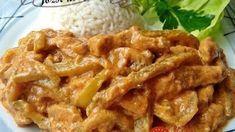 Falešný stroganoff z kuřecího masa – tohle trumfne i originál. Turkey Recipes, Keto Recipes, Chicken Recipes, Cooking Recipes, Modern Food, Meat Chickens, Food 52, A Table, Pork