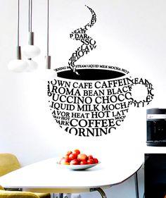 Coffee Cup - Vinilo Adhesivo, decoración de paredes. $69.900 COP. Encuentra más vinilos adhesivos en www.giferent.com/vinilos-decorativos-adhesivos