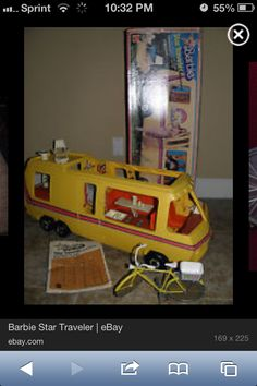 My favorite Christmas was getting this Winnebago pimped out Barbie mobile