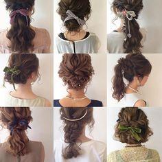 アレンジイロイロ♡(*^^*) #hair#hairarrange#hairstyle#arrange#wadami_arrange#ヘアスタイル#ウェディング#ブライダル#ヘアアレンジ#ヘア#アレンジ#ファッション#ヘアメイク#メイク#愛知#名古屋#美容師#美容室#LOREN#lorensalon