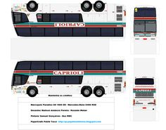 Onibus Marcopolo, N Scale, Mercedes Benz, Paper Models, Transportation, Jumping Jacks, Toys, Paper Animals, Planners