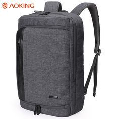 f3935609e6 Aoking 2017 Nylon Men Backpack for laptop Large Capacity Multifunctional  College Student School Backpack Waterproof Daily Bag