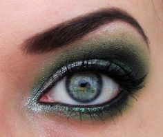 Silver and green eyes
