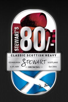 Stewart's 80/- (4.4%) full bodied, full flavoured auburn coloured classic heavy