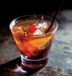 The GodFather -- //   /   1 1/2 oz Scotch   /   1/2 oz Amaretto  //  Build ingredients in an old fashioned glass and add ice.