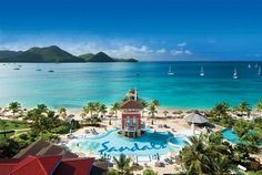 Sandals - See their three resorts in St. Lucia St Lucia All Inclusive, St Lucia Hotels, Caribbean All Inclusive, All Inclusive Vacations, Caribbean Vacations, Great Vacations, Caribbean Sea, Jamaica Resorts, Florida Resorts