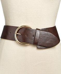 INC International Concepts Asymmetrical Stretch Belt, Created for Macy's Leather Corset Belt, Wide Leather Belt, Leather Belts, Leather Buckle, Leather Accessories, Vintage Accessories, Handbag Accessories, Fashion Accessories, Fashion Belts
