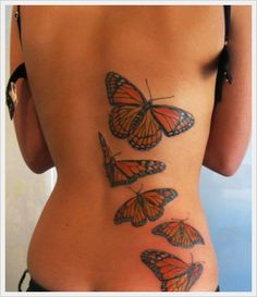 Lower Back Tribal Tattoos Design: Butterfly Tribal Back Tattoos Designs For Girl ~ Tattoo Design Inspiration