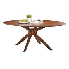 Balboa Modern Oval Dining Table in Walnut | Eurway