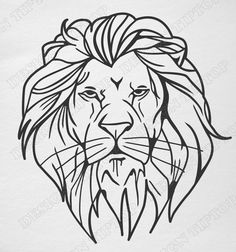 Silhouette head LionSVGDXF files for cutting by DesignTipTop