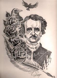 Poe+Tattoo+Commission.jpg (654×900)