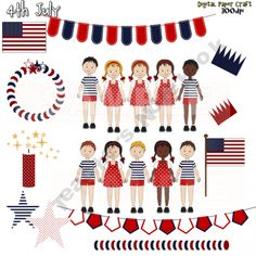 Clip Art 4th July Independance Day