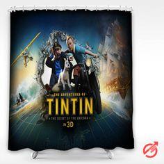 #Movie #The #Adventures #of #Tintin #3D #Shower #Curtain #showercurtain #decorative #bathroom #creative #homedecor #decor #present #giftidea #birthday #men #women #kids #newhot #lowprice #cover #favorite #custom #friend
