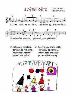 Svátek dětí: 4 Kids, Children, Sheet Music Art, Music Do, Dinosaur Party, School Hacks, Kids Songs, Holidays And Events, Crafts For Kids