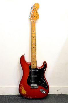 Fender Stratocaster 1979 Guitar For Sale Fluxson Music Fender Stratocaster Red, Fender Guitar Amps, Guitar Rig, Cool Guitar, Guitar Players, Vintage Guitars For Sale, Rare Guitars, Bass Amps, Fender Custom Shop
