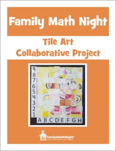 "Participants are handed a one inch ""tile"" and need to re-draw the image on the tile onto a 5"" x 5"" tile. These tiles will be organized on a grid to show the final image. This makes for an amazing station at a Family Math Night event. That said, this is a perfect classroom activity, too!"
