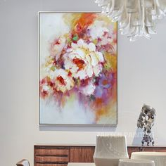 "LARGE FLORAL CANVAS ART PINK TULIPS BOX CANVAS 34/""x20/"""