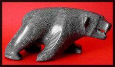 image inuit art carving bear polar