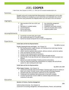 inside sales resume examples google search - Inside Sales Resume