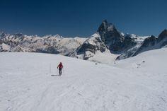 Skitour von Zermatt über die Tete Blanche (3710m) nach Arolla