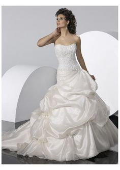 with corset closure strapless wedding dresses