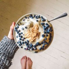 "myclimatechange: "" Breakfast yesterday morning, featuring blueberries I picked…"