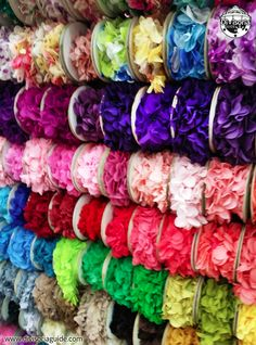Pick from thousands of ribbon selections at Michelle's Ribbon and Lace Center at Primeblock (near escalator entrance at Bonifacio Drive St. Diy Wedding, Wedding Ideas, African Fashion Dresses, Wholesale Fashion, Ribbons, Entrance, Projects To Try, Sequins, Diy Crafts