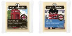 We briefed and commissioned a British artist to produce these illustrations for the American cheese market