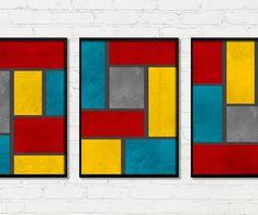 ACOMPANHA:    3 UNIDADE: ALTURA: 45 CM / LARGURA: 34 CM / PROFUNDIDADE: 2 CM  (TRÊS QUADROS)    ESPECIFICAÇÕES:  IMPRESSÃO DE ALTA QUALIDADE EM PAPEL FOTOGRÁFICO  MOLDURA DE MADEIRA REFLORESTADA  VIDRO DE 2MM E PENDURADOR Happy Colors, Wall Art Designs, Living Room Decor, Birthday Gifts, Abstract Art, Christmas Gifts, Sketches, Quilts, Drawings