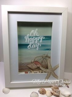 serene scenery, my paper oasis, stampin up, picture perfect, by the tide, beach scene, beach frame
