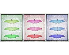8x10 Print, Set of 3 Printable Nursery Wall Decor Set of Prints Butterfly Artwork Nursery Art Nursery Print Butterfly Decor Instant Download