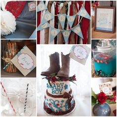 Country Chic baby shower, cowboy theme baby shower, baby boy shower, farmhouse chic shower