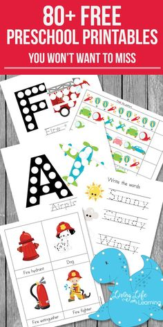 Have some fun with your preschooler and learn at the same time with these educational free preschool printables in various seasonal themes. There are counting activities, letter activities, writing activities and more. Letter Activities, Preschool Learning Activities, Free Preschool, Preschool Curriculum, Preschool Lessons, Toddler Activities, Counting Activities, Writing Activities, Preschool Themes