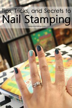 Tip for nail stamping: Let your paint sit on the plate for 10-20 seconds before scrapping. You want to give it a chance to get into the design grooves.
