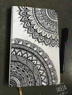 40 Beautiful Mandala Drawing Ideas & Inspiration - Brighter Craft Source by Need some drawing inspiration? Here's a list of 40 beautiful Mandala drawing ideas and inspiration. Why not check out this Art Drawing Set Artist Sketch Kit, perfect for practisin Mandala Doodle, Easy Mandala Drawing, Mandala Art Lesson, Simple Mandala, Doodle Art Drawing, Mandalas Drawing, Zentangle Drawings, Cool Art Drawings, Zentangle Patterns