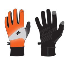 Neon Orange reflect running gloves - these are smart gloves so you can use your phone without having to take your gloves off in the freezing cold