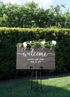 Wedding Welcome Sign Rustic Wood Wedding Sign Wedding Decor