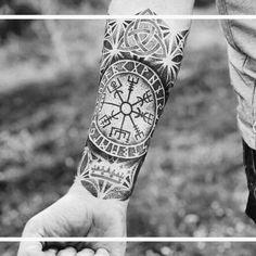 tribal polynesian tattoos for men Viking Tattoo Sleeve, Norse Tattoo, Forearm Sleeve Tattoos, Raven Tattoo, Best Sleeve Tattoos, Celtic Tattoos, Viking Tattoos, Pisces Tattoo Designs, Pisces Tattoos
