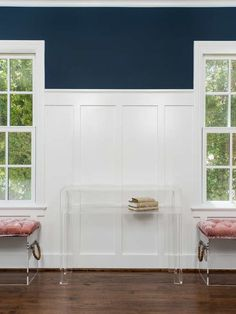 Batten, also called board-and-batten, is a wall trim piece used to hide the joint between two pieces of paneling. Wall Trim Molding, Moldings And Trim, Crown Molding, Moulding, Board And Batten, Living Room Chairs, Dining Room, Ship Lap Walls, Wall Treatments